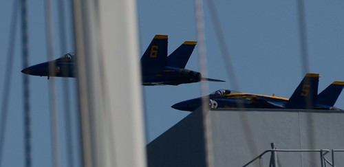 Blue Angels through the rigging