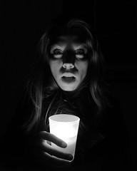 Light and Shadow (C_MC_FL) Tags: light shadow portrait blackandwhite bw woman white black face night contrast dark person photography austria licht weird sterreich kerzenlicht gesicht mood candle fotografie nacht expression fear atmosphere kerze fav20 spooky sw fujifilm frau kontrast schatten schwarz angst stimmung x10 finster weis unheimlich fav10 ausdruck