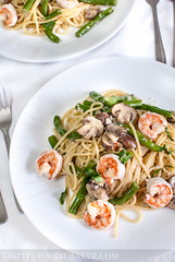 Creamy Mushrooms and Prawns Pasta (Foodie Baker) Tags: food cooking vegetables mushrooms eating cream prawns pasta delicious noodles seafood recipes easy spaghetti shrimps penne creamy