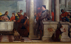 Detail of standing figure right, Paolo Veronese, Feast in the House of Levi