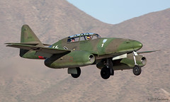 Messerschmitt Me 262 (replica) (Tom_Morris Photos) Tags: swallow schwalbe scottsdaleairport collingsfoundation sdl white1 me262 ksdl wingsoffreedomtour messerschmittme262 me262b1c n262az