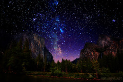 starry starry yosemite (Kris Kros) Tags: california ca night photoshop stars lights evening el galaxy yosemite kris constellations starry hdr kkg capitan photomatix cs6 kros kriskros kkgallery shadowsshowtime
