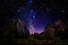 starry starry yosemite (Kris Kros) Tags: california ca night photoshop stars lights evening el galaxy yosemite kris constellations starry hdr kkg capitan photomatix cs6 kros kriskros kkgallery shadowsshowtime