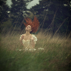 wildwood (elle.hanley) Tags: red woman green nature beauty forest hair dress hairflip texturebylesbrumes vivadeva ladymisselle