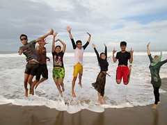 Sawarna Flying Men (Mulyana2010) Tags: beach sawarna banten