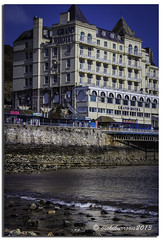 THE GRAND HOTEL LLANDUDNO (vicki127.) Tags: sea beach pier bluesky pebbles vicki llandudno grandhotel northwales burrows digitalcameraclub flickraward ilovemypics canon650d ringexcellence lightroom4 vicki127 adobephotoshopcs6