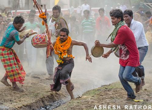 Jhamu Yatra -  Walking on fire