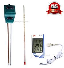 ชุดเพาะเห็ดฟาง Pack # 2 วัดอุณหภูมิ ความชื้น กรดด่างเห็ดฟาง