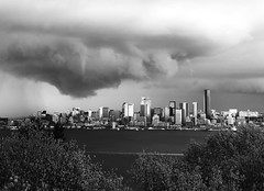 Stormwatch (bOw_phOto) Tags: seattle leica blackandwhite storm silver f14 olympus panasonic westseattle nik summilux dg omd 25mm em5 efex m43ftw