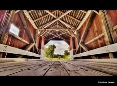 Covered Bridge (Andrew E. Larsen) Tags: bridge newengland newhampshire coveredbridge papalars andrewlarsenphotography
