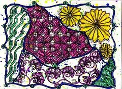Zentangle 198 (ronniesz) Tags: doodles zia penink tangles zentangle