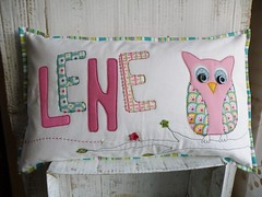custom order (monaw2008) Tags: handmade name pillow owl applique cushion monaw monaw2008