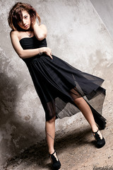 Martina Polopoli n.10 (Riccardo Mollo) Tags: black muro girl wall model dress nero ragazza collana modella vestito necklance
