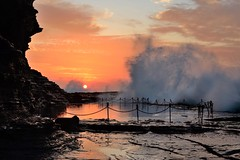 The Bogey Hole (paulhollins) Tags: sunrise newcastle waves australia newsouthwales rockpool bogeyhole nikond600 paulhollins