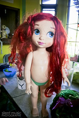 part of the way .. (snoopygirl) Tags: ariel hair store doll little disney collection mermaid animators