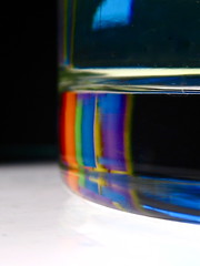 abstract shot... (Kaos2) Tags: abstract macro shot spectrum refraction shotglass seewhatididthere
