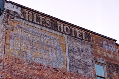 Ghost sign for Beer and a Hotel, Wallace, ID (CT Young) Tags: idaho wallace smalltown silvervalley centeroftheuniverse idahopanhandle ruralwest wallaceid shoshonecounty miningcity canonefs18135mmf3556is