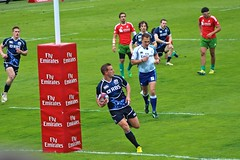 Colin Shaw scoring for Scotland against Portugal at the Glasgow Sevens (astrum08) Tags: portugal scotland try hsbc irb scotstoun colinshaw glasgowsevens
