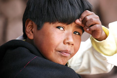 In Thought (Alex E. Proimos) Tags: poverty boy peru hope eyes thought child poor dream imagine wish