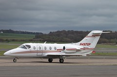 N497XP Hawker Beechcraft 400XP  Glasgow Prestwick 5/5/13 (Pwkman) Tags: scotland airport aircraft aviation beechcraft raytheon hawker prestwick pik ayrshire gpa bizjet prestwickairport southayrshire egpk 400xp n497xp glasgowprestwick