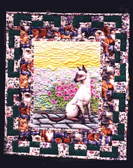 Suzi (dog.happy.art) Tags: original art quilt handpainted quilted freehand wallhanging artquilt mpn
