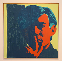 Andy Warhol Self Portrait (1967) (dr_marvel) Tags: sanfrancisco california orange color art painting artwork paint artist acrylic bright modernart sfmoma canvas silkscreen andywarhol warhol artmuseum