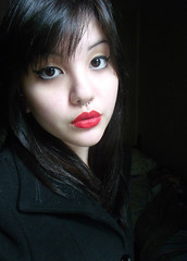 Self (Eduarda T.) Tags: red girl self dark pretty lipstick