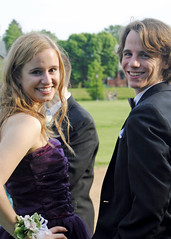 Looking Back (CodyBoteler) Tags: boy portrait selfportrait green girl smile smiling couple pretty teenagers teen prom date