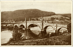 Wade's bridge, Aberfeldy, early 20th cent (P&KC Archive) Tags: building tourism fashion sport architecture scotland 19thcentury perthshire scene recreation roads royalty aberfeldy spectacle perthandkinross