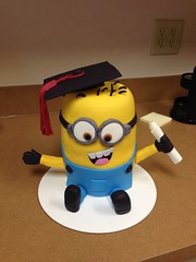 Minion Grad cake (Cake!!! by AmandaB) Tags: yellow diploma graduation grad minion uploaded:by=flickrmobile flickriosapp:filter=nofilter