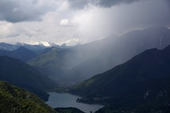 Lago di Ledro and a shower (WeatherMaker) Tags: italien italy mountains alps hiking alpen nara trentino cima bal lagodigarda gardasee pregasina