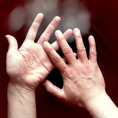 Unfold (Lumase) Tags: selfportrait man male square hands arms touch fingers textured wrists unfold