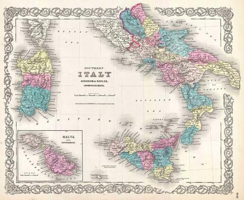 1855-Mappa-Italia-meridionale-e-Malta-1855-r2