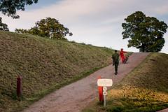 Drama at Kastellet (Niels A) Tags: copenhagen bicycle soldier import20160730 kastellet girl