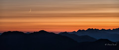 New moon over Sisters range (D. Inscho) Tags: northcascades northwest moon washington twinsisters pacificnorthwest usa
