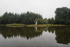Sgel - Schloss ClemensWerth (Mr.6 Photography) Tags: garden schloss germany sogel reflection water art artwork grey nature naturephotography deer animal statue trees tree green foilage lake pond vijver mirror olympus getolympus defotoblogger amazing ngc