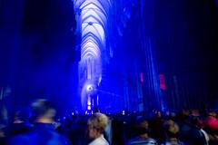 silentMOD inside (ToDoe) Tags: silentmod colognecathedral klnerdom kln inside innen dom dome gotisch gotik blue blu blau cologne lights licht lightinstallation light gamescom