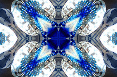kaleidoscope (87) (lisafree54) Tags: blue white four quarter quarters kaleidoscope design pattern geometric background free freephotos cco