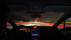 On the road again (gus62320) Tags: road route nuit lumire phare rouge feux voiture car vitesse speed night light spot filet dri photoshop