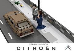 Citroen CX Prestige ( 1976) (lego911) Tags: citroen cx prestige lwb saloon limousine berline 1976 1970s auto car moc model miniland lego lego911 ldd render povray france french lugnuts challenge 106 exclusiveedition limited special exclusive edition classic fwd luxury