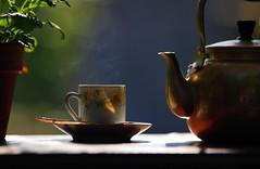 Tea garden (aminah51) Tags: bokeh teapot garden tea cup