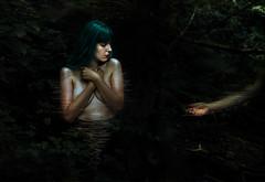 Ven (ClaraBarqun) Tags: art portrait girl woman nature light green fineart naturallight
