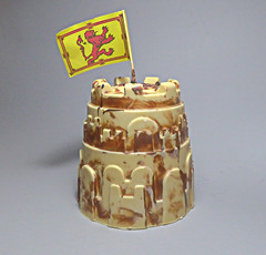Marbled Chocolate Sandcastle. (ManOfYorkshire) Tags: chocolate sandcastle artisan justins whitby white marble marbled choice thick created flag sale cocoa