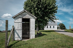 Historic (out) House.  HFF! (Mr. Pick) Tags: church school crainhill tn tennessee outhouse privy