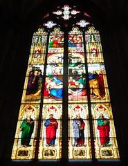 Stained Glass, Cologne Cathedral (yantrax) Tags: colourartaward farbglas indoor schwarzerhintergrund fenster architektur sammlung hell