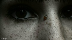 dark (SaraCaas) Tags: blackandwhite black dark ladybug freckles pecas girl young photography photographer photo night nice pretty beautiful beauty portrait like picture pic red relax good perfect mariquita pale