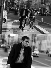 [La Mia Citt][Pedala] (Urca) Tags: milano italia 2016 bicicletta pedalare cicllista ritrattostradale portrait dittico nikondigitale mir bike bicycle biancoenero blackandwhite bn bw 881119