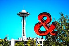 Space Needle & (San Francisco Gal) Tags: seattle spaceneedle olympicsculpturepark sculpture building hdr