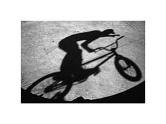 (Marek Pupk) Tags: central europe slovakia bike shadow blackandwhite documentary bw monochrome analog film canon 5 a2 ilford xp2 bmx