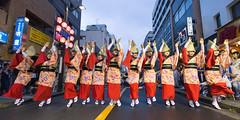 Nihoren @ Mitaka Awaodori 2016 (Apricot Cafe) Tags: awaodori canonef1635mmf28liiusm japan mitaka mitakaawaodori nihoren tokyo dancing festival performance summer    mitakashi tkyto jp img648940